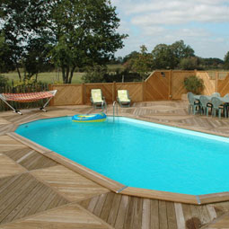Piscina rectangular de madeira 700 venda piscina for Piscinas enterradas