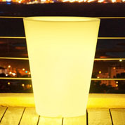 Vaso Redondo Luminoso Multicor - Ø 30 x A.40 cm